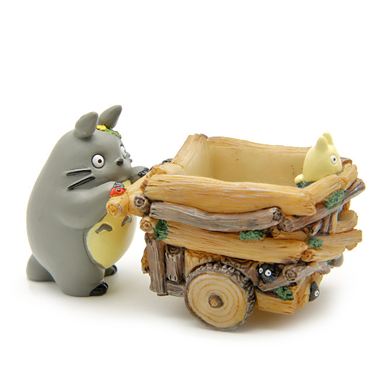 Studio Ghibli My Neighbor Totoro Toys Cute 5cm Totoro Push Car Resin Action Figure Collection Model Toy for Kids Gift Home Decor studio ghibli my neighbor totoro toy diy hayao miyazaki four season totoro mini resin action figures toys collection model toy