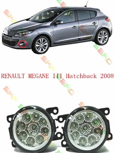 For RENAULT MEGANE 3/III Hatchback  2008-2013  car styling led  Refit fog lights    12V  2 PCS  White  Yellow renault megane coupe 1999