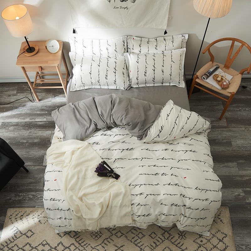 Bedding-Sets Pillow-Case Duvet-Cover Flat-Sheet Child Skin Soft Teen-Decoration Breathable