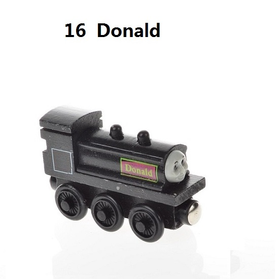 Деревянные магнитные паровозики, игрушки для железной дороги, деревянные паровозики для детей, подарок для детей, модель поезда - Цвет: Лимонно-желтый