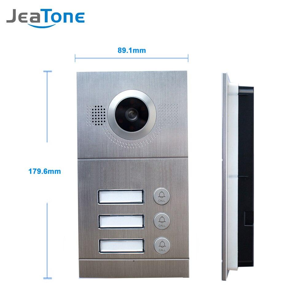 JeaTone видео телефон двери дверной звонок ИК Камера 720 P AHD высокое Разрешение 3 кнопки вызова Панель Камера IP65 Водонепроницаемый