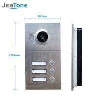 Venta JeaTone Video Door Phone Door Bell IR Cámara 720P AHD Alta Resolución 3 botones Panel de