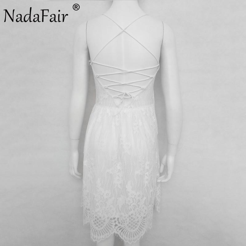 HTB18caOanZRMeJjSsplq6xeqXXaV - FREE SHIPPING Party Dress Sleeveless Lace-up Backless V Neck White Black 142