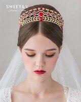 GÜMRÜKLEME SATıŞ Mücevherli Kraliçe Taç Rhinestone Prenses Tiara-Altın/Gümüş Gelin Saç Aksesuarı Düğün Balo Parti için