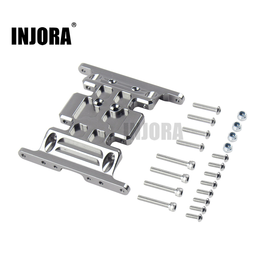 INJORA SCX10 Aluminum Alloy Metal Gearbox Mount Holder For 1/10 RC Crawler Axial SCX10