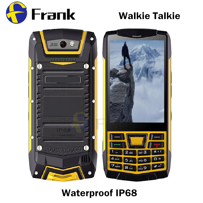 Цена за Android 6.0 Смартфон IP68 Walkie Talkie водонепроницаемый Противоударный NFC GPS WI FI Quad core 1 2GBRAM 3.5 INCH 5MP WCDMA мобильный телефон