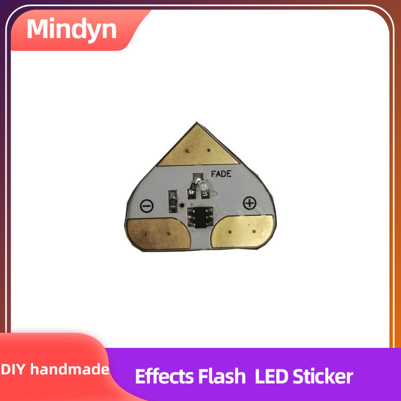Children DIY Handmade Blink Twinkle Fade Heartbeat Special Effects LED Stickers  Educational Circuit