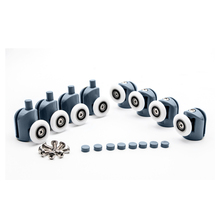 4pcs-8pcs/set 23mm/25mm Plastic Pop Up Shower Cabin Enclosures Hardware Door Roller Bearing Pulley Runner Wheels Replacement