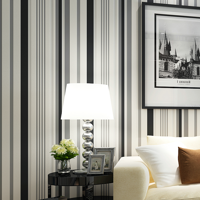 living striped vertical stripes simple stripe background bedroom modern minimalist abstract tv papel parede non woven wallpapers quarto para aliexpress