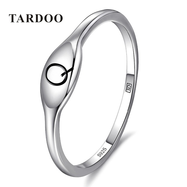 Tardoo Genuine 100% 925 Sterling Silver Q Typeface Rings for Women Nice Briefness Charming Ring Brand Fine Jewelry Free Shipping