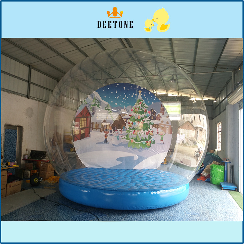 Christmas inflatable snowman, snow globe,inflatable display ball for decoration festival