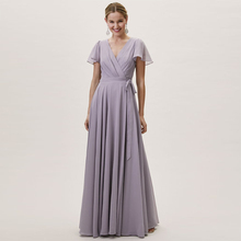 Verngo 2019 Bridesmaid Dresses Fashion Dress Chiffon Wrap Long Vestidos Fiesta Boda Vestido Madrinha