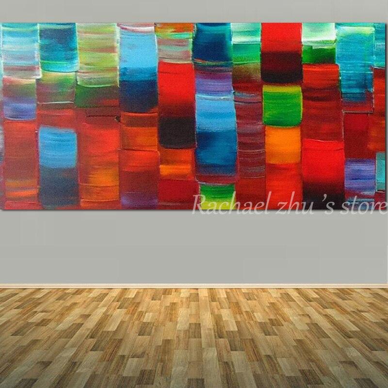 pintado a mano abstracta arte cuchillo de paleta de colores pintura al leo sobre lienzo abstracto de la pared de imgenes de la