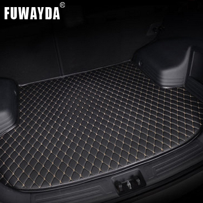 FUWAYDA car ACCESSORIES Custom fit car trunk mat for Honda 7th ACCORD 2003 to 2007 travel non-slip  waterproof Good quality trunk tray mat for honda fit 2014 2017 waterproof anti slip car trunk cover for honda fit black
