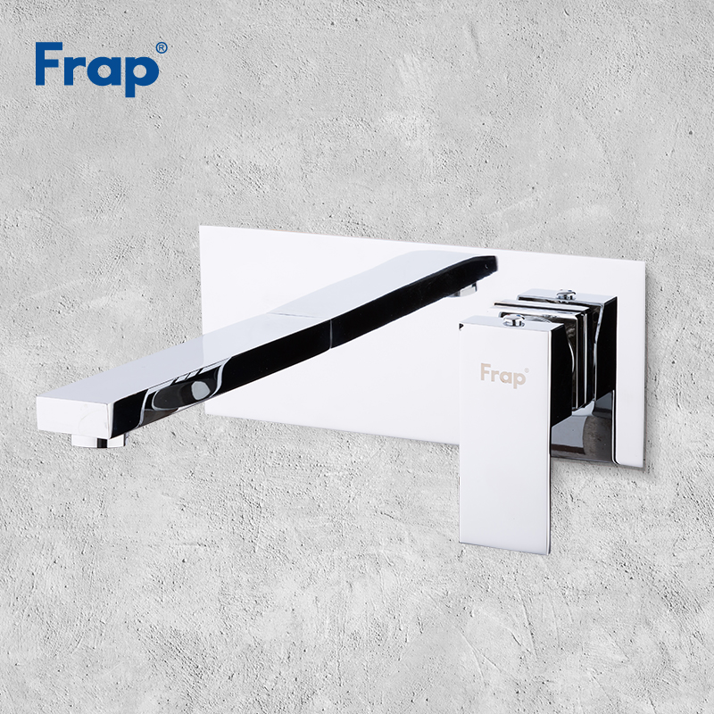 Frap Wall Mount Chrome Bathroom Basin Faucet Bath Faucets Sinks Mixer Tap Cold And Hot Water