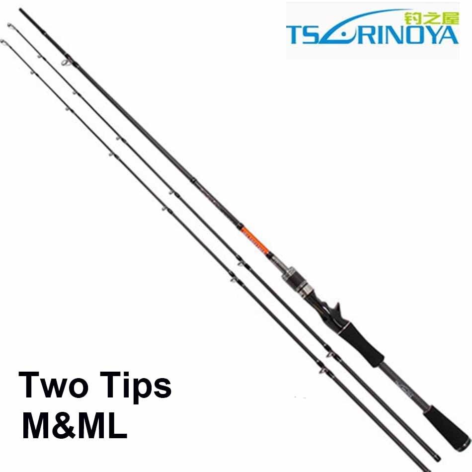 Free Shipping Trulinoya 2 Tips M ML Carbon Fiber font b Fishing b font Rod 2