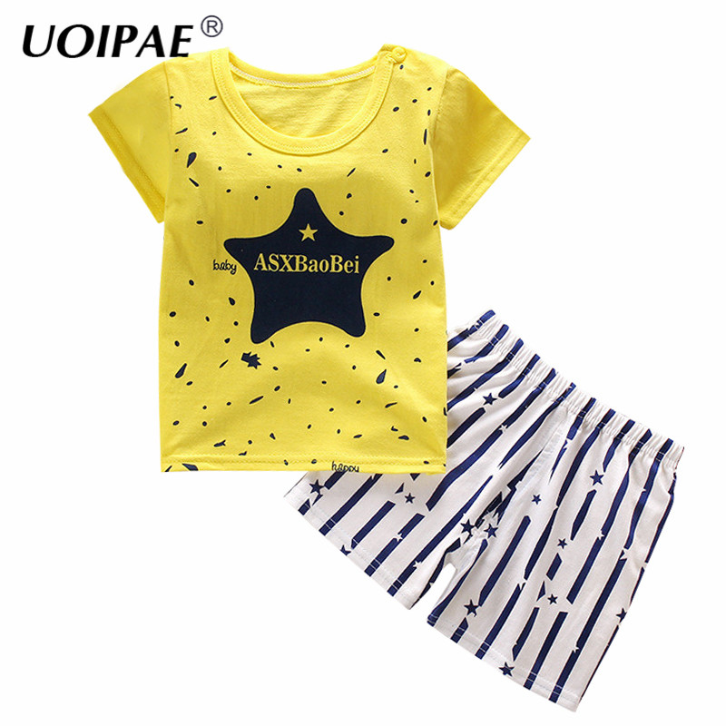 Baby Boys Clothes 2017 Summer T Shirt+Pants 2 Pcs Boys Set Cartoon Boys Clothing Set 1-5Y Children Clothing Kids Clothes PY008