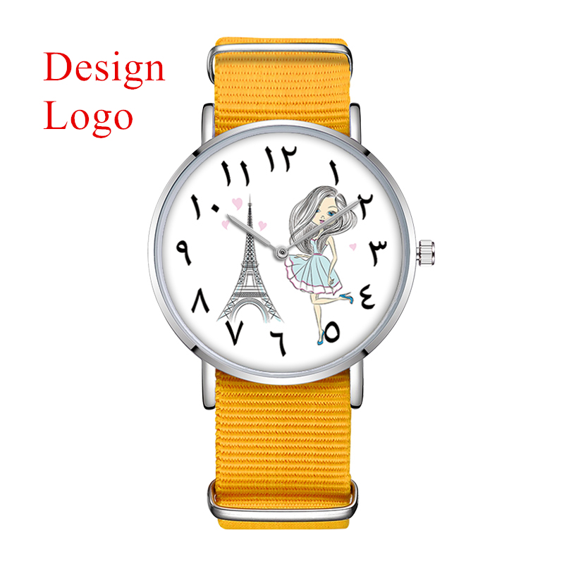 D 0025 MOQ 50pcs Custom Watch Logo Made in prc Women Wrist ...