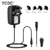 Adaptateur de convertisseur de puissance prise EU US AC 100-240 V à DC 12 V 2A chargeur de transformateur de commutation pour LED