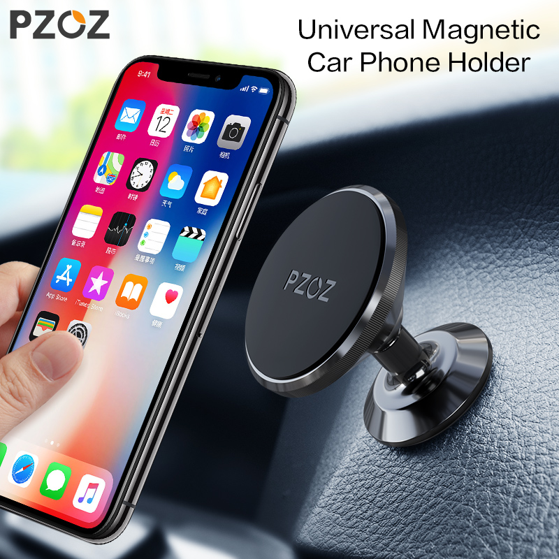 PZOZ Magnetic Mobile Phone Holder 360 Degree GPS Universal Car Phone Holder For iPhone Samsung xiaomi Magnet Mount Holder Stand