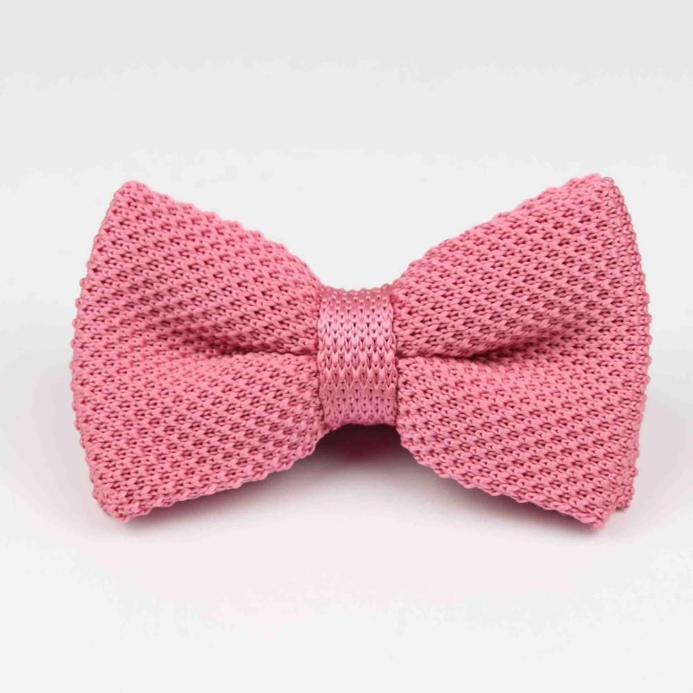 Мужские галстуки для шеи, смокинг, вязаная бабочка, Одноцветный галстук-бабочка, толстый двухслойный предварительно завязанный Регулируемый вязаный Повседневный галстук - Цвет: 32