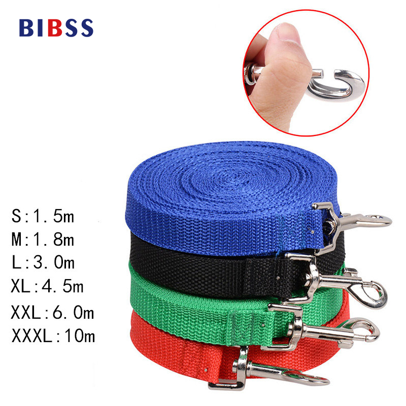 Pet Lead Leash for Dogs Cats Red Green Blue Nylon Walk Dog Leash Selectable Size Outdoor Security Training Dog Harness s m l xl 7 colors pet cats dog leash large dog soft adjustable dog harness pet supplies walk out hand strap vest collar for dogs