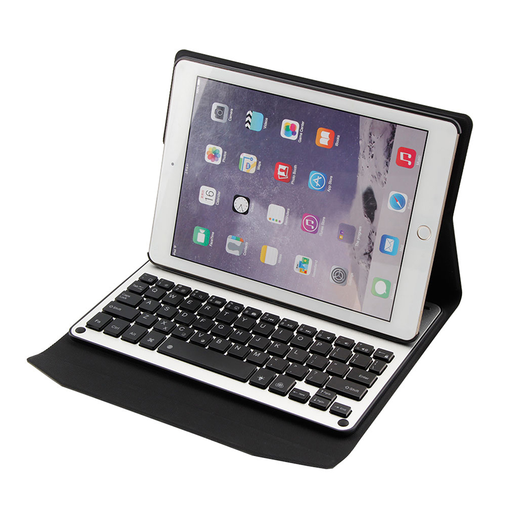 Wireless Bluetooth Keyboard Case For iPad 9.7/Pro 9.7/5/6 Case Removable Bluetooth Keyboard PU Leather Flip Stand Cover Case