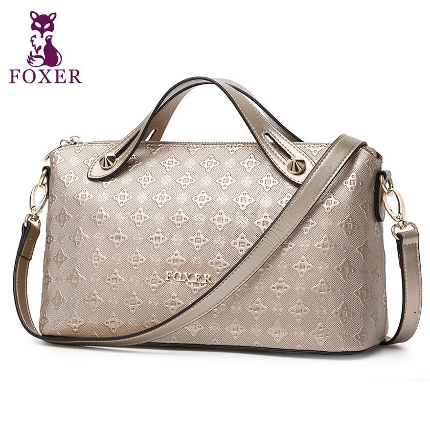 Фотография FOXER  Women bag 2015 new shoulder Messenger Bag Fashion Boston Bag