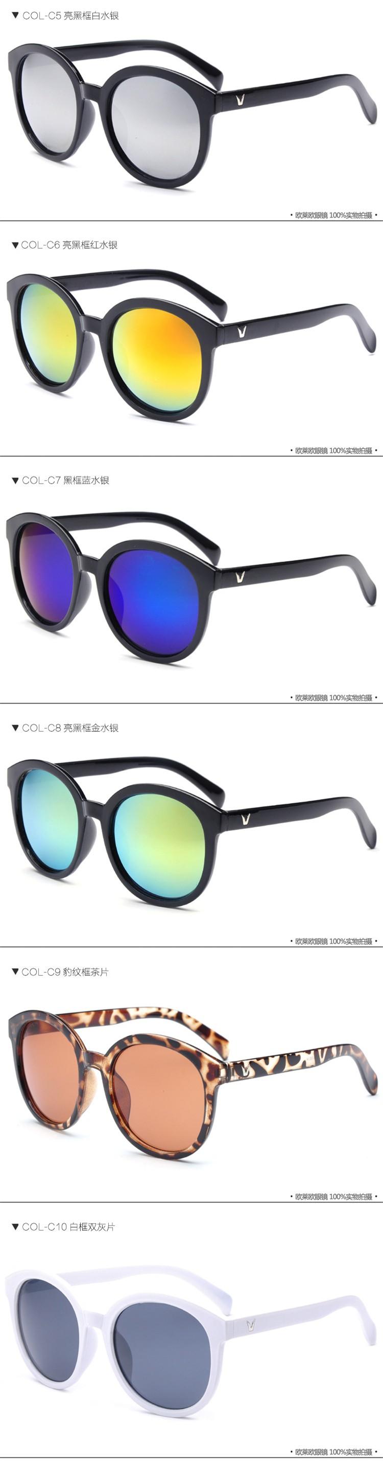 de611dc3bc3c Fashion REFLECTED Round Women Sunglasses Female Superstar Vintage Original Brand  Designer Metal Frame Celebrity Sun Glasses UVUSD 7.99 piece. 33. 44