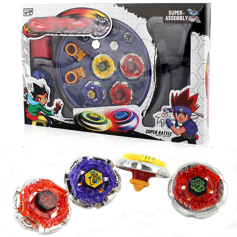4pcs/set Spin Tops Stadium Arena Toys With Plastic Launcher Metal Fusion 4D  Spinning Top Toys Gifts For Kids #E beyblade set