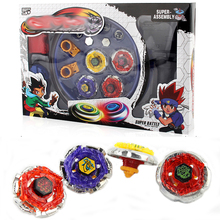 4pcs/set Spin Tops Stadium Arena Toys With Plastic Launcher Metal Fusion 4D  Spinning Top Gifts For Kids #E