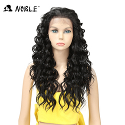 Noble  Lace Front High Temperature Long Wig 24 Inch Long Curly Synthetic Wigs For  Women Heat Resistant Free Shipping