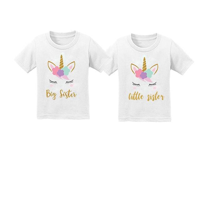 Kids Tshirt  Boys Girls T-shirt Casual Tee Kids Big Brother Big Sister Letter Black Summer Short Sleeve T shirts Tops 2T-6T