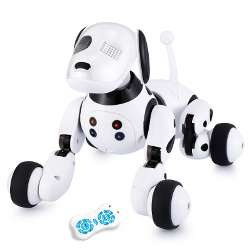 DIMEI 9007A Robot Dog Electronic Pet Intelligent Dog Robot Toy 2.4G Smart Wireless Talking Remote Control Kids Gift For Birthday(China)
