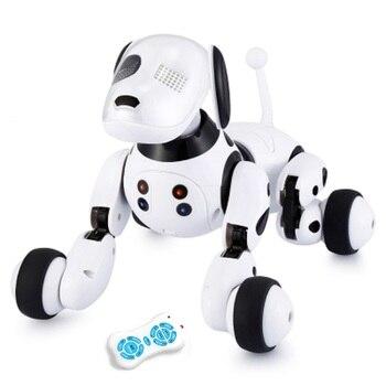 DIMEI 9007A робот-Собака электронная собака умная собака Робот игрушка 2,4 г умный беспроводной говорящий пульт дистанционного управления детски...