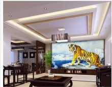 wallpaper modern 3d Home Decoration King of the forest tiger TV wall decoration painting room modern wallpaper(China)