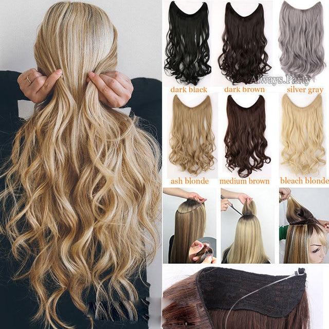 S noilite longs cheveux synthétiques postiche