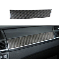 Carbon Fiber Car Interior Control Dashboard Co pilot Panel Decoration Strip Stickers Cover For BMW E70 E71 X5 X6 Accessories