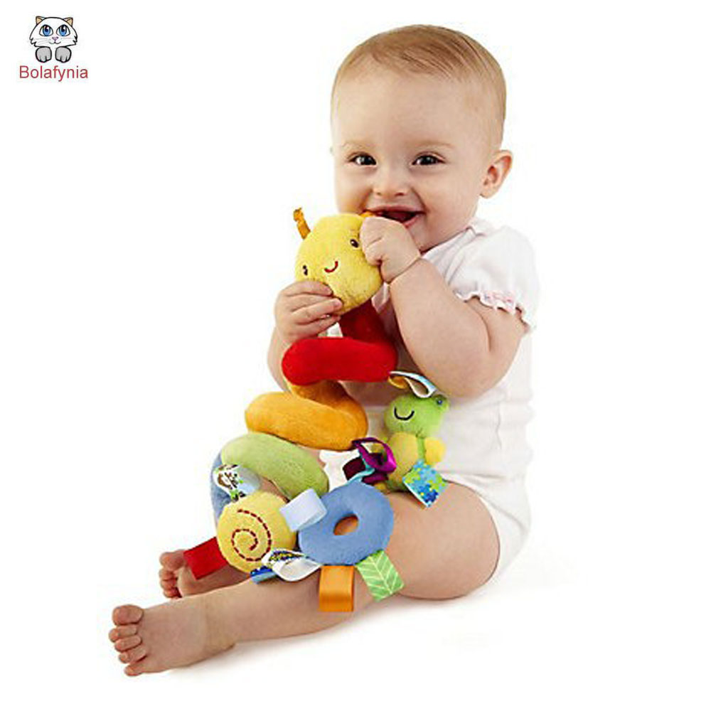 Baby Rattles & Mobiles Infant baby bed music around bell baby bedside bell rattles bed soft toys children toys