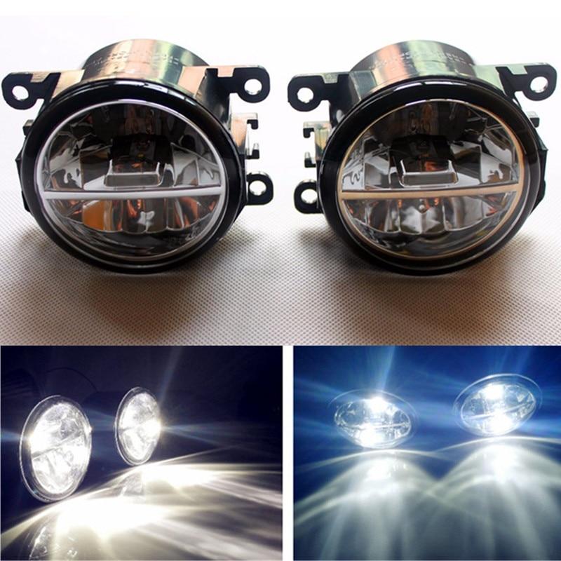 For Mitsubishi L200 OUTLANDER 2 PAJERO 4  Grandis 2003-2015 Car styling LED Fog Lights 10W DRL fog lamps 1set