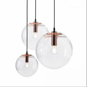 Image 2 - NASN lampe suspendue en verre à la forme dor rose en forme de boule, luminaire dintérieur, idéal pour une cuisine ou une cuisine, E27, LED
