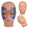 Massage Training Mannequin Flat Head Practice Make Up Model Eyelash Extensions