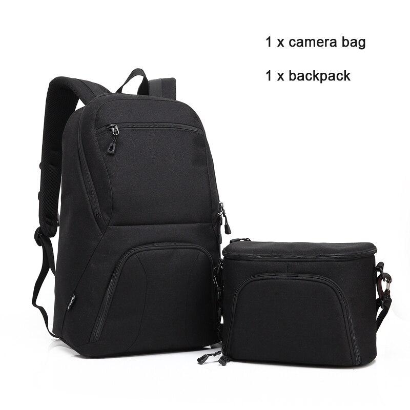 HuWANG Upgrade Waterproof Digital DSLR font b Photo b font Padded Backpack w Rain Cover Multi