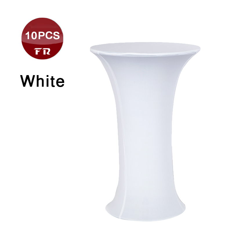 Free Shipping 10pc Table Cover 60x110cm White Round Based Stretch