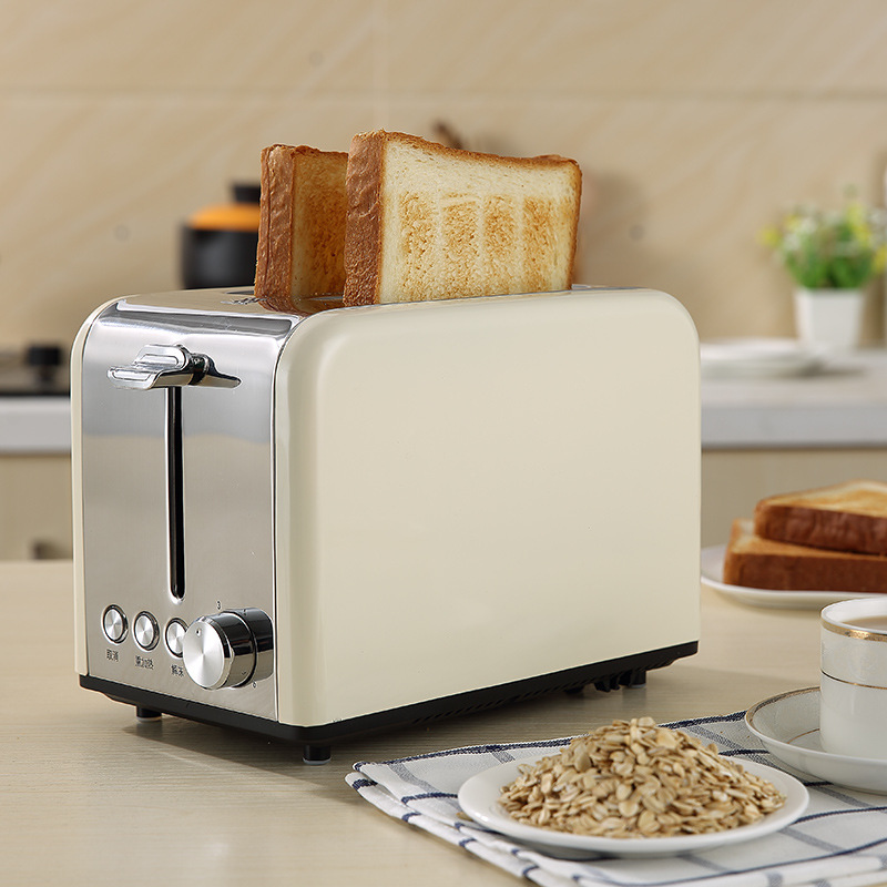 Toaster 2 Pieces Home Toaster Automatic Stainless Steel Breakfast Machine ToasterToaster 2 Pieces Home Toaster Automatic Stainless Steel Breakfast Machine Toaster