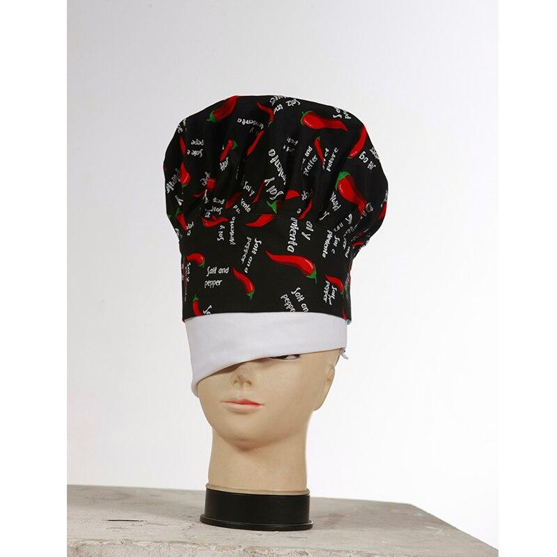 Mode Topi Topi Chef Restoran Hotel Dapur Wiru Elastis 100% Cotton Warna  yang Lebih 78a692e966