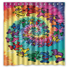 Novelty Item!Hot Band&Grateful Dead Background Printed Waterproof Polyester Shower&Bath Curtain( 180X180CM)