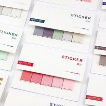 Diy koreański śliczne kreatywne biuro nowość kartki samoprzylepne naklejki do planowania strona indeks biuro szkolne papiernicze