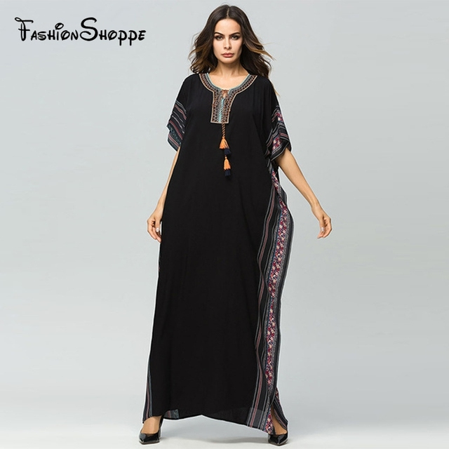 cd49afb9db6 Muslim Women Abaya new arab elegant loose abaya kaftan islamic fashion  muslim dress clothing design women black dubai abaya D701