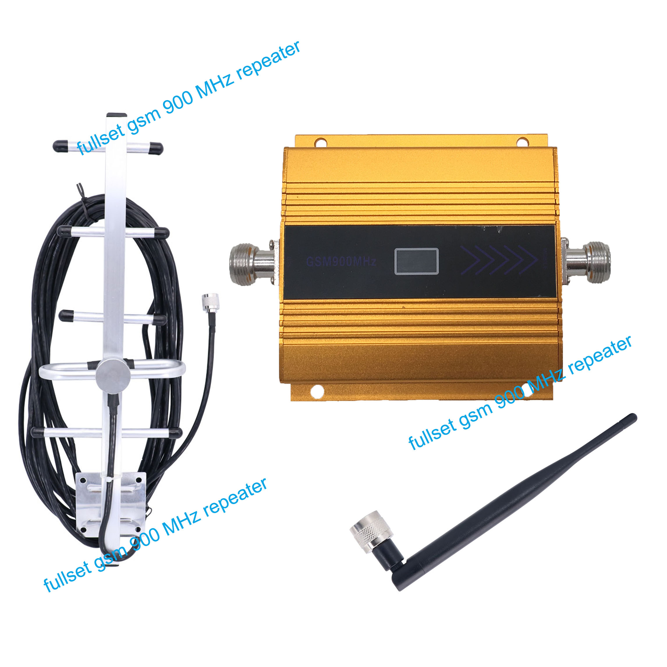 GSM 900MHz LCD signal repeater mini GSM900MHZ mobile signal booster GSM 900 cell phone amplifier with indoor outdoor antenna grille
